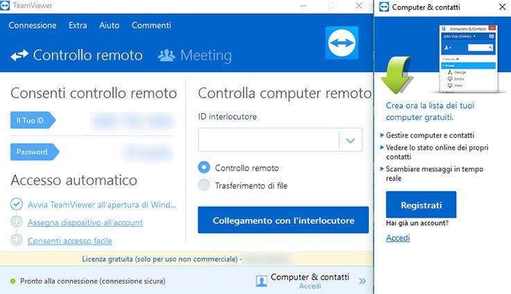 Come controllare un PC da remoto con TeamViewer 2