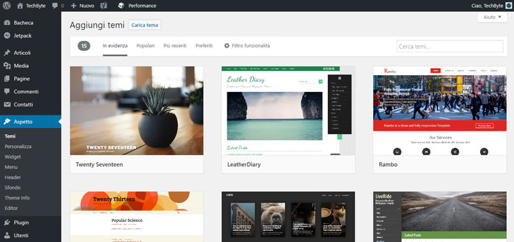 Guida di Wordpress: l'interfaccia 6