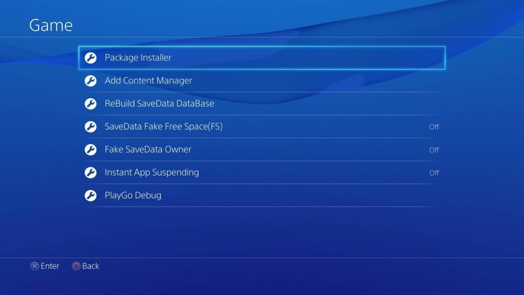 Package Installer su PS4