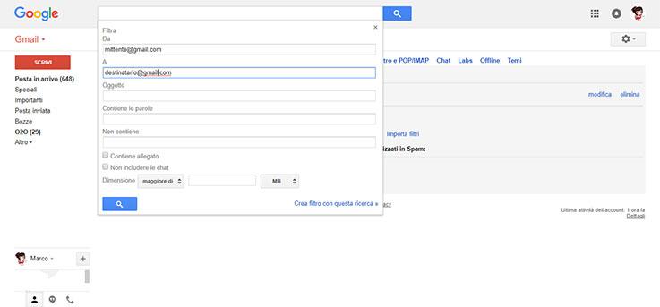 Modificare le impostazioni di inoltro automatico email su Outlook e Gmail 2