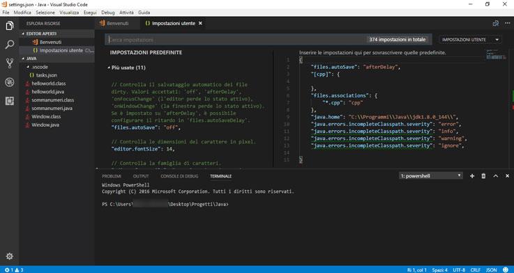 Configurare Java su VS Code