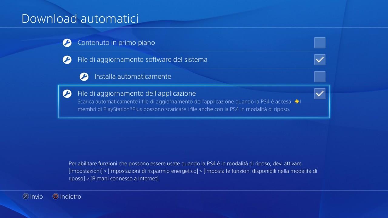 Download automatici su PS4
