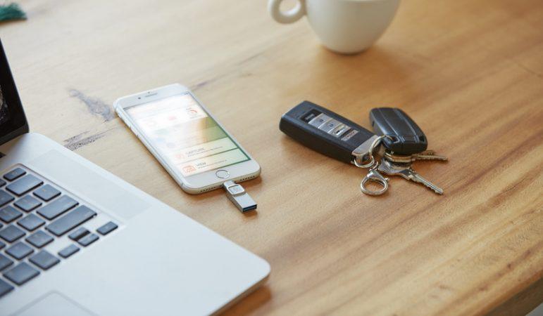 DataTraveler Bolt Duo per trasferire file dall'iPhone