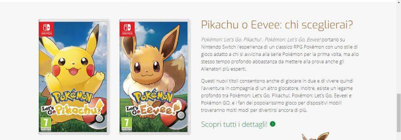 Descrizione di Pokemon Let's Go Pikachu e Let's Go Eevee