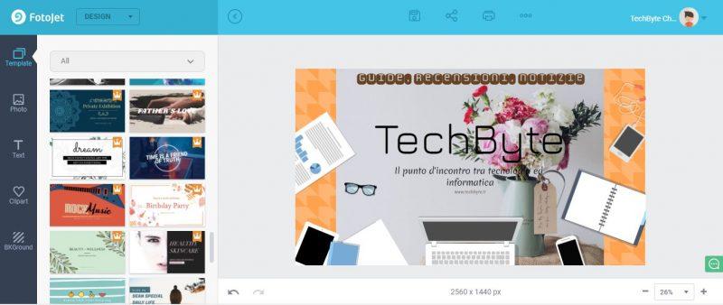 FotoJet: come creare un design online in pochi click 1