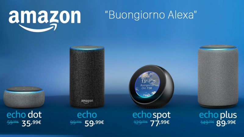 Alexa in Italia, ecco i dispositivi Amazon Echo con l'assistente vocale