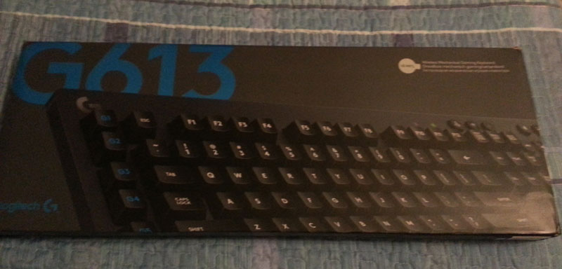 Logitech G613: fronte confezione