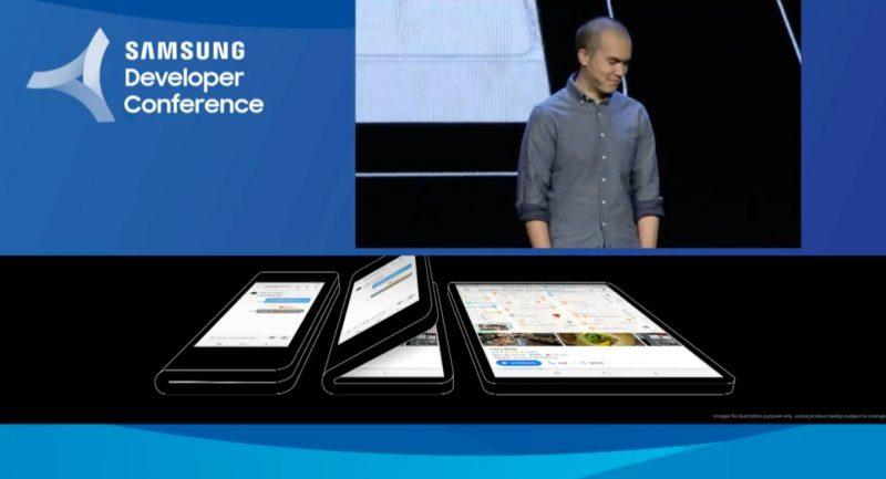 Samsung mostra per la prima volta lo smartphone pieghevole