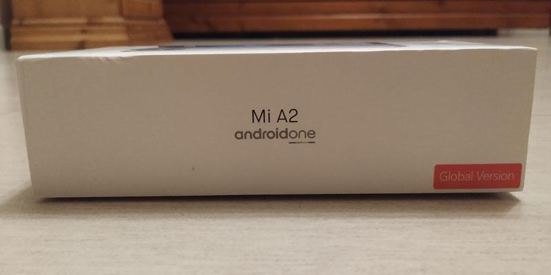 Xiaomi Mi A2: foto scatola