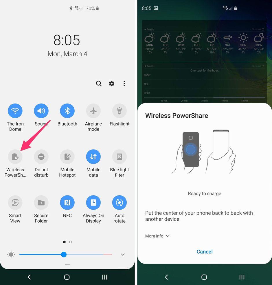 Attivazione Wireless PowerShare