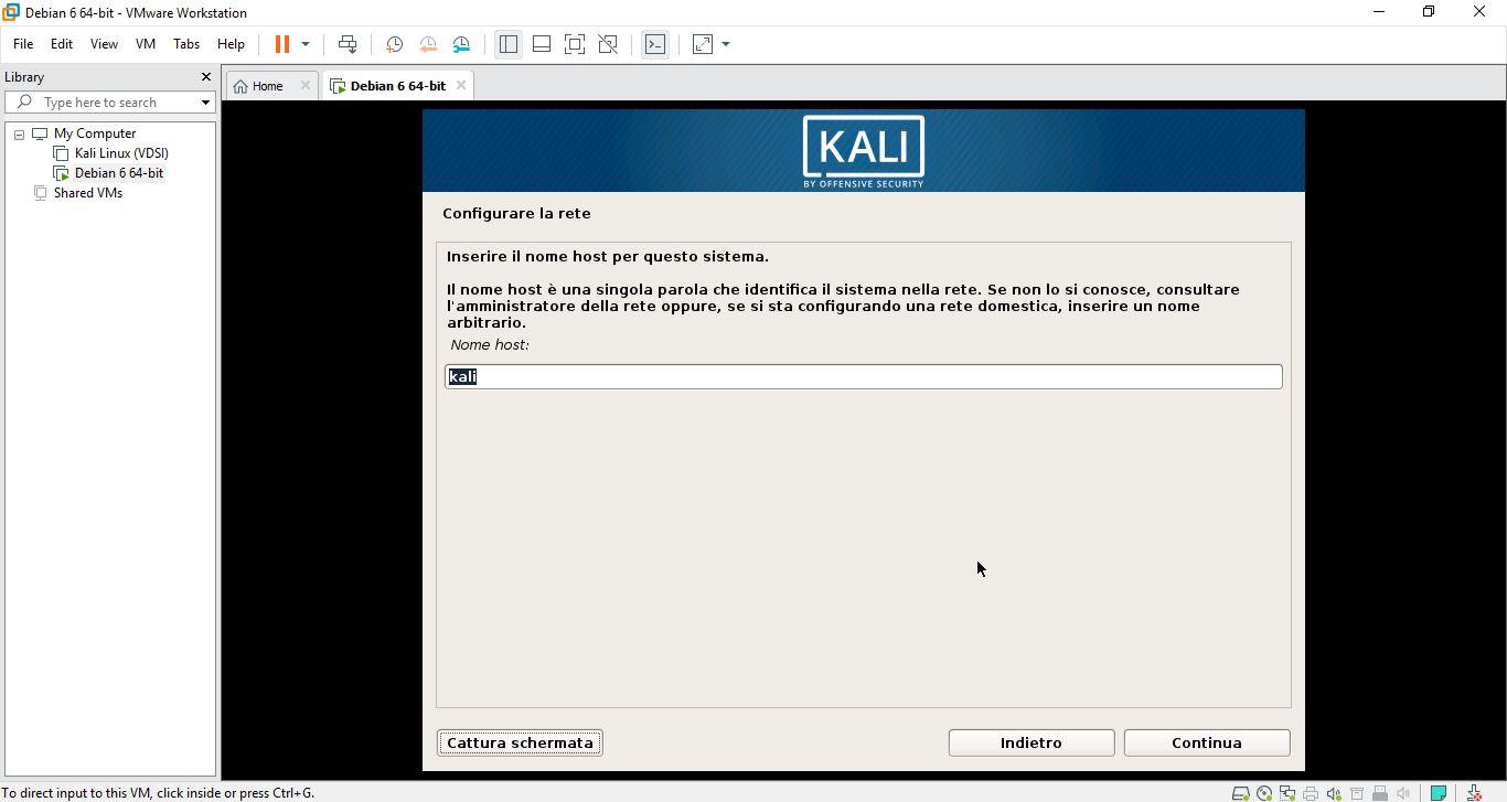 Come installare Kali Linux su macchina virtuale 3