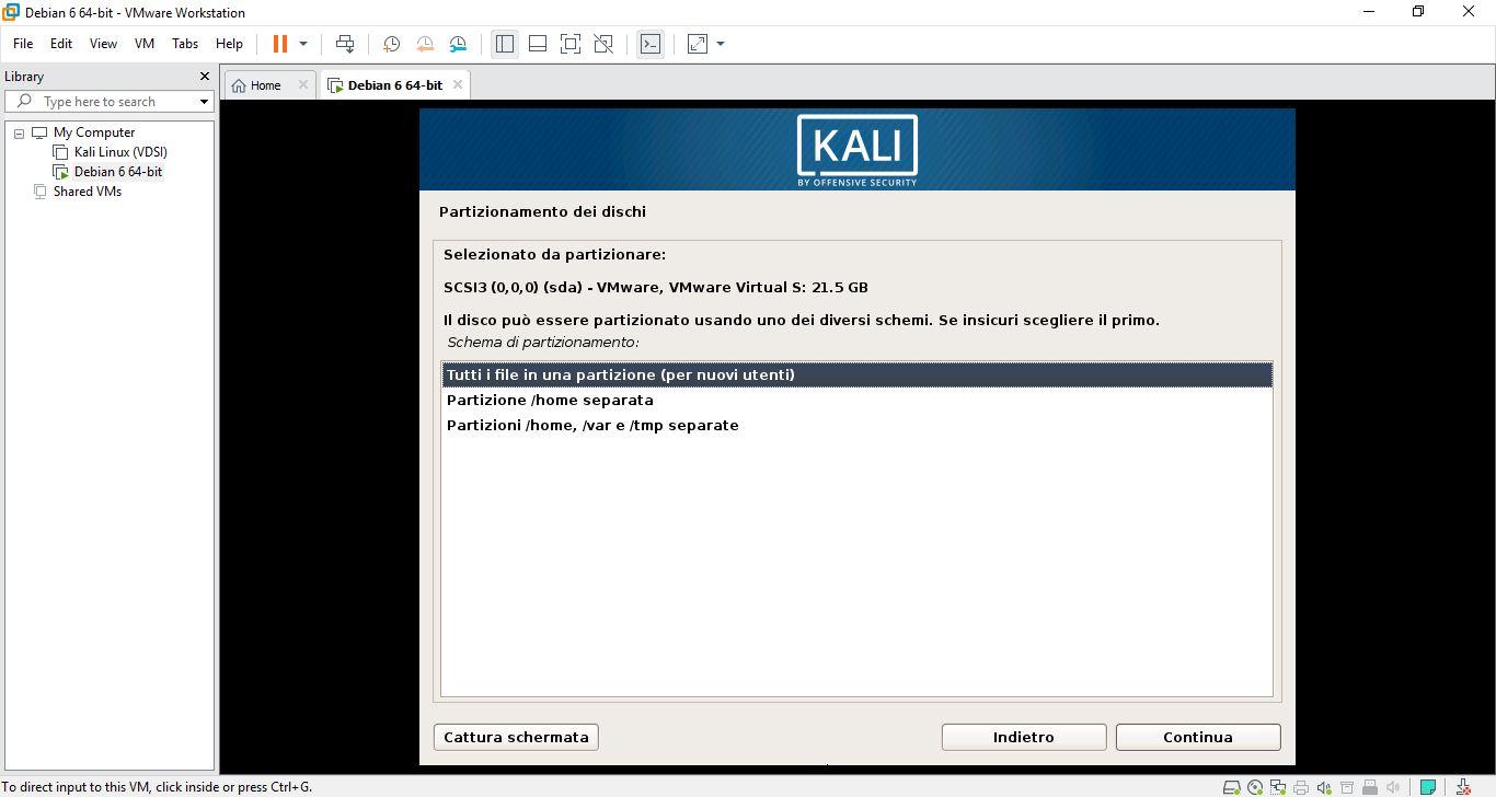 Come installare Kali Linux su macchina virtuale 6