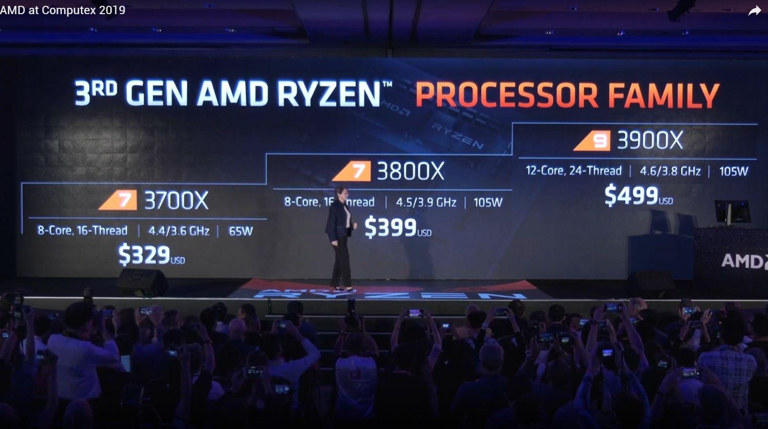 AMD Ryzen 3000: i modelli annunciati
