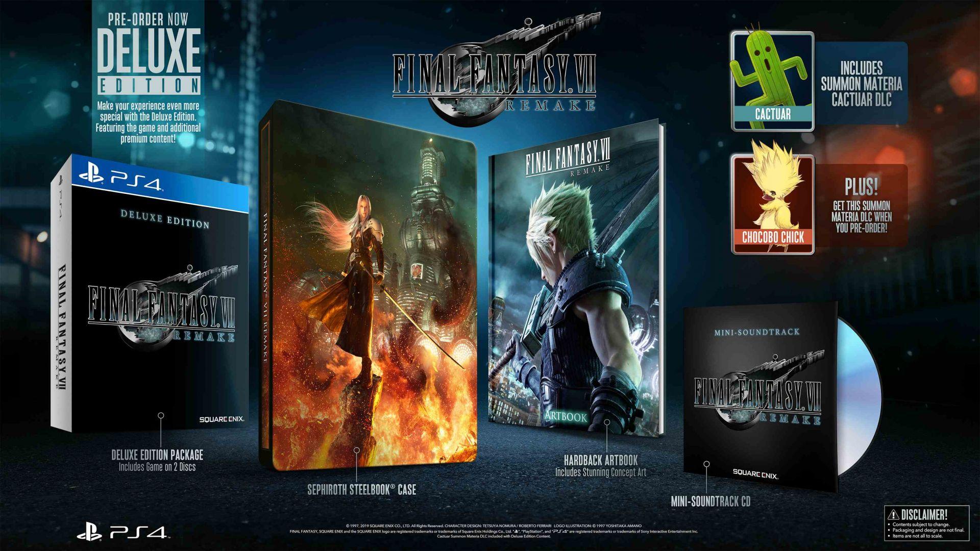 [E3 2019] Final Fantasy VII Remake: tutti i dettagli della Deluxe e First Class Edition 1
