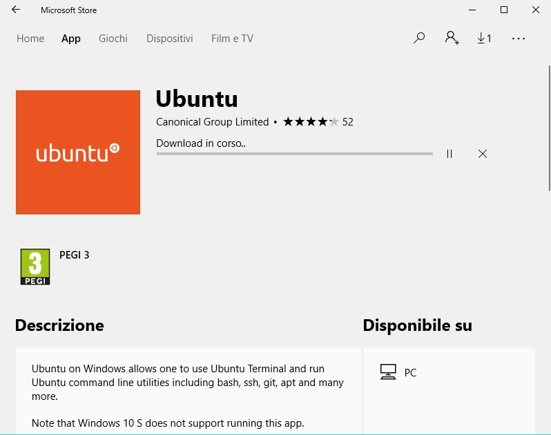 Download Ubuntu per Windows 10