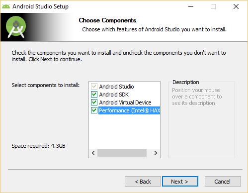 Installazione Intel HAXM tramite Android Studio