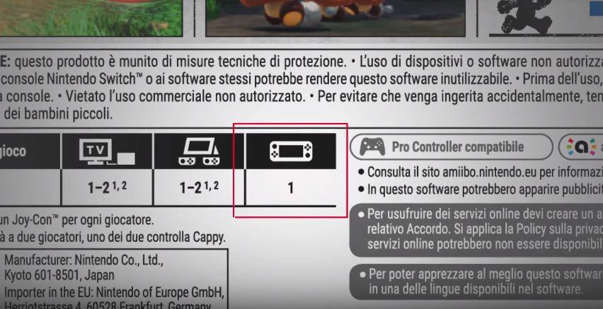 Nintendo Switch gioco portatile