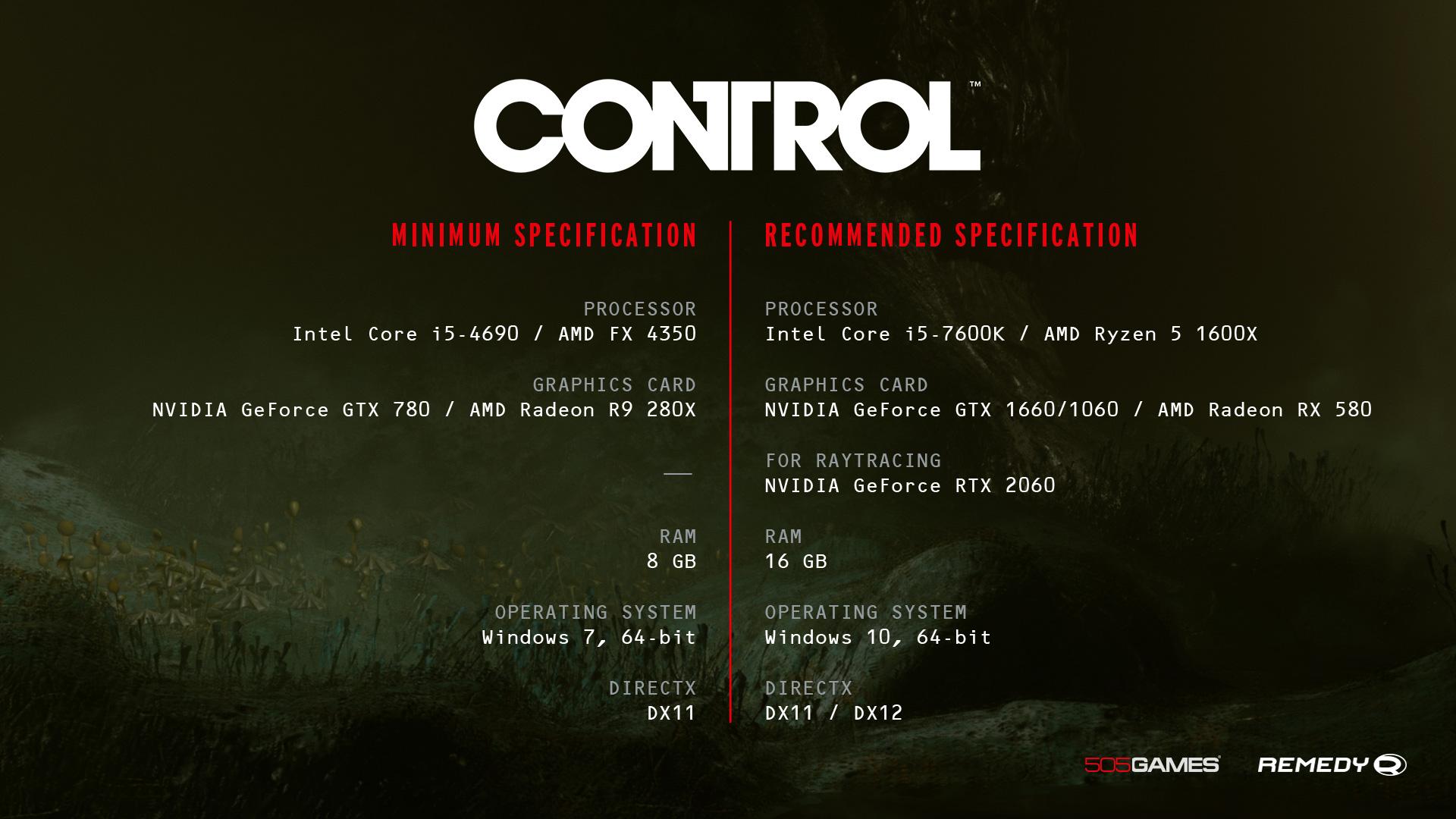 Requisiti PC Control