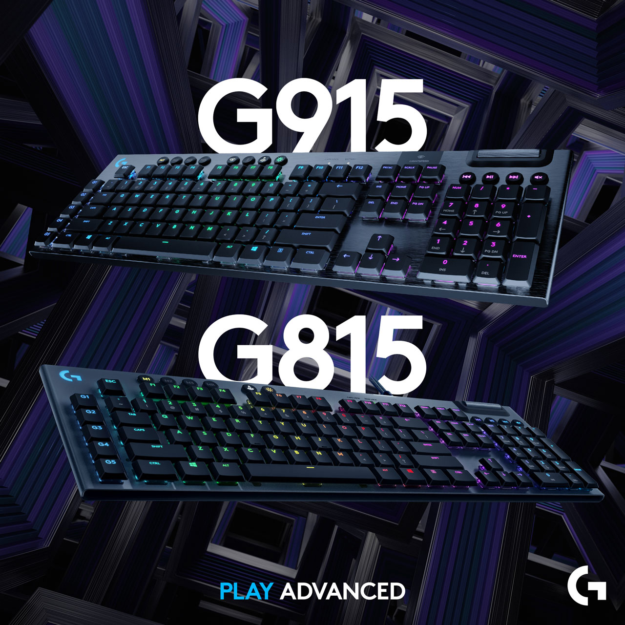Logitech G presenta la G915 LIGHTSPEED e G815 LIGHTSYNC RGB 1