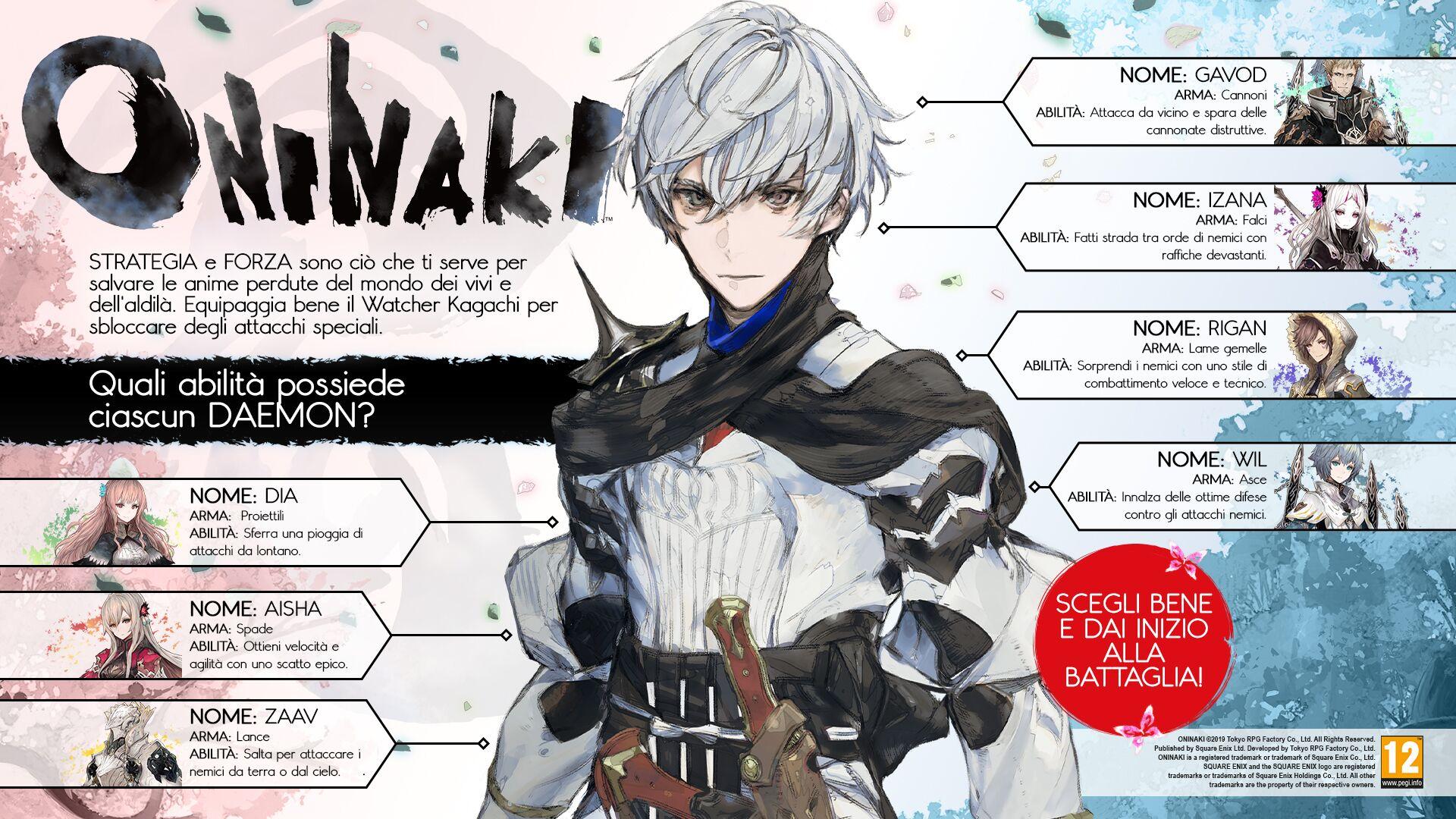 Oninaki abilità Daemon