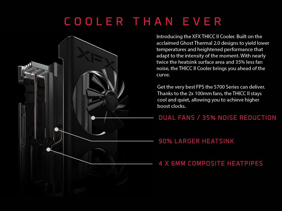 XFX Radeon RX 5700 XT THICC II ufficiale: fino a 1905MHz e design innovativo 1