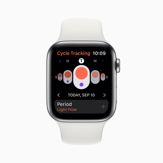 Apple Watch Serie 5 Cycle Tracking