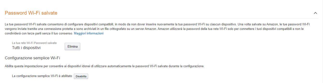 Rimozione password Amazon