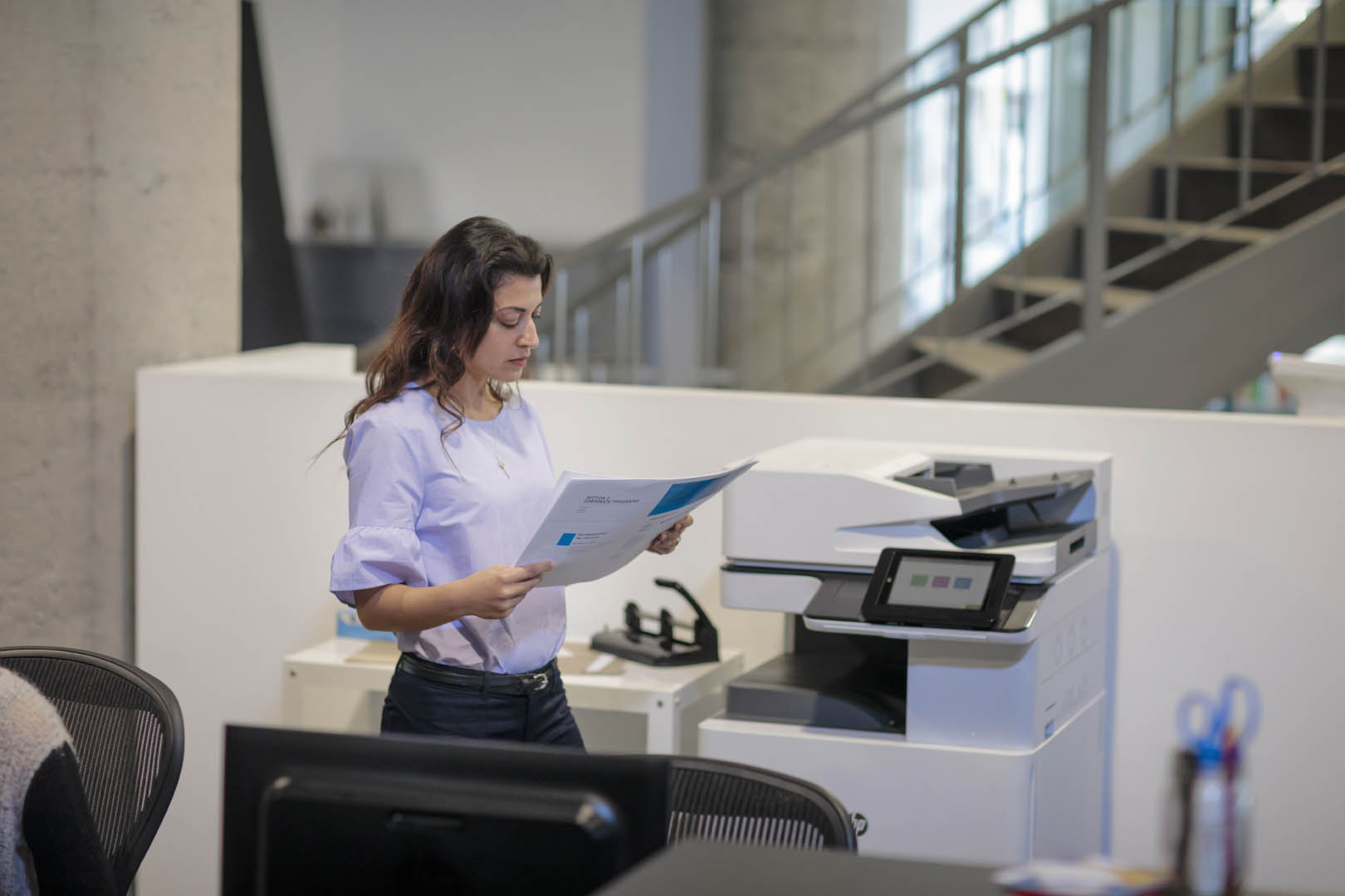 HP presenta le stampanti professionali Color LaserJet Enterprise MFP M776 e M856 1