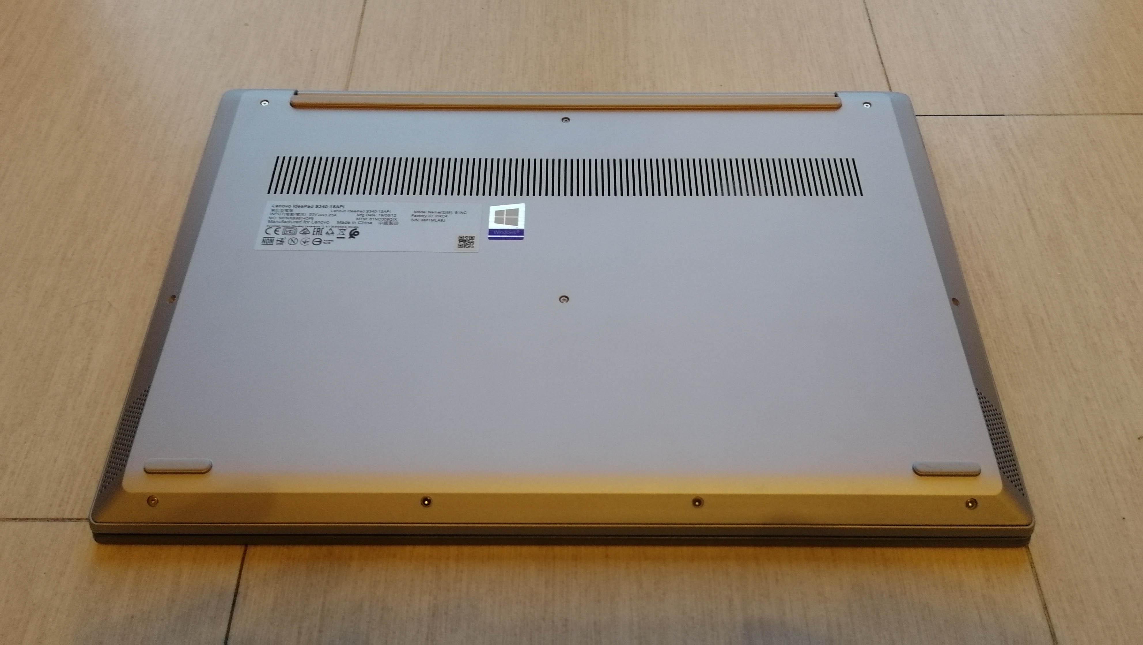 Lenovo IdeaPad S340 presa d'aria