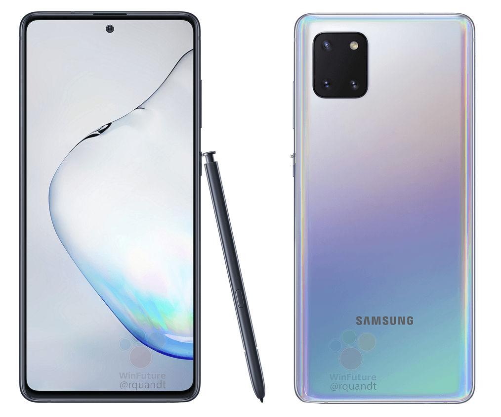 Samsung Galaxy Note 10 Lite design