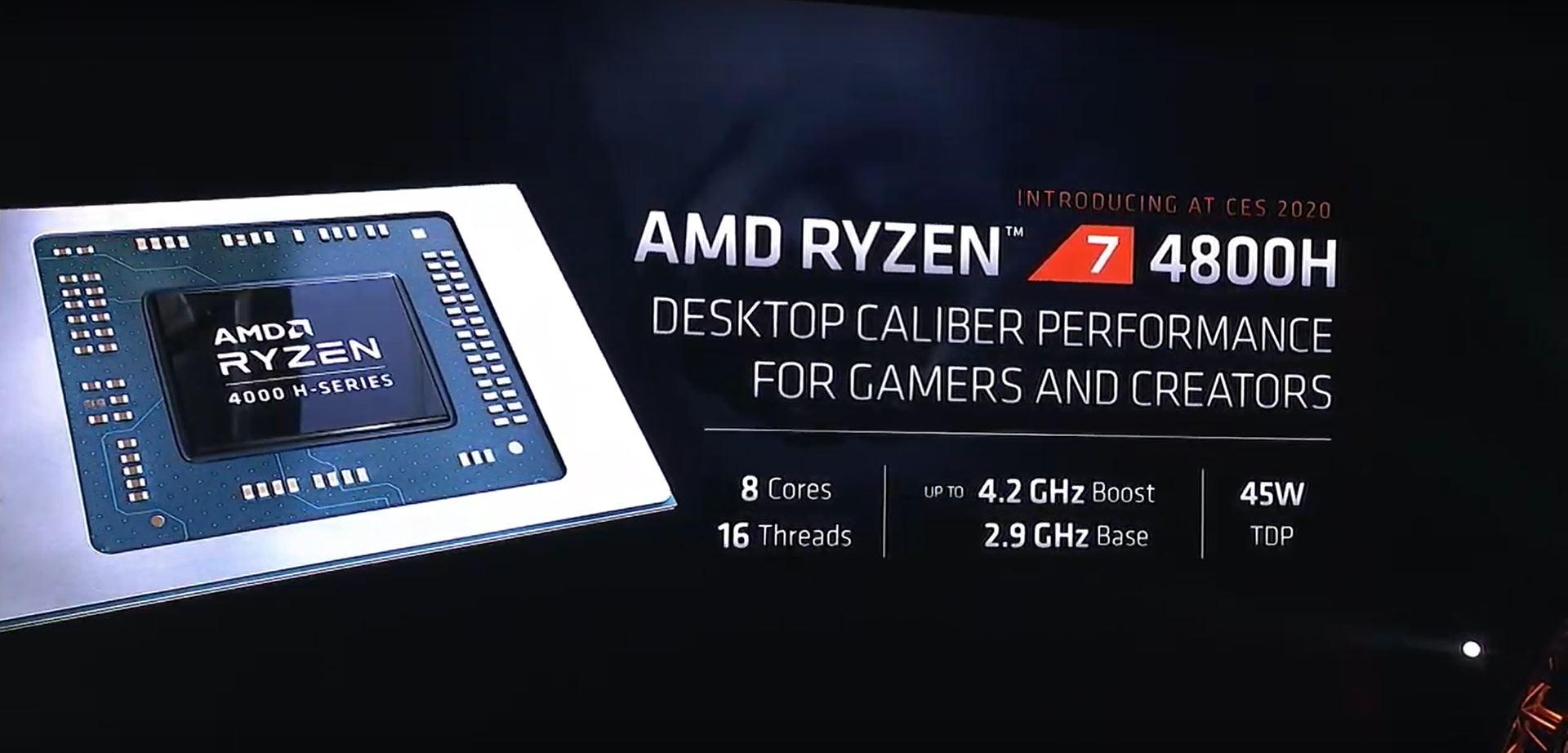 Ryzen 7 4800H specifiche