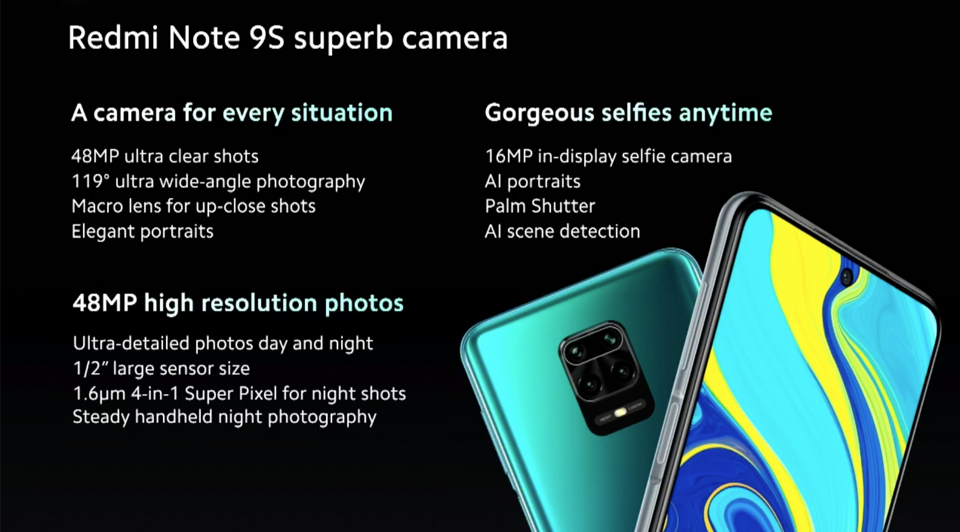 Redmi Note 9S fotocamera