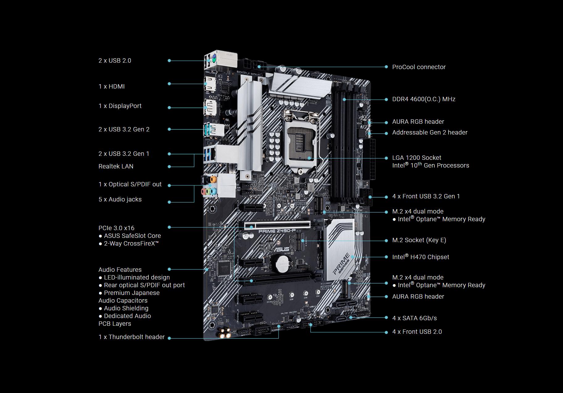 Asus Prime Z490-P caratteristiche