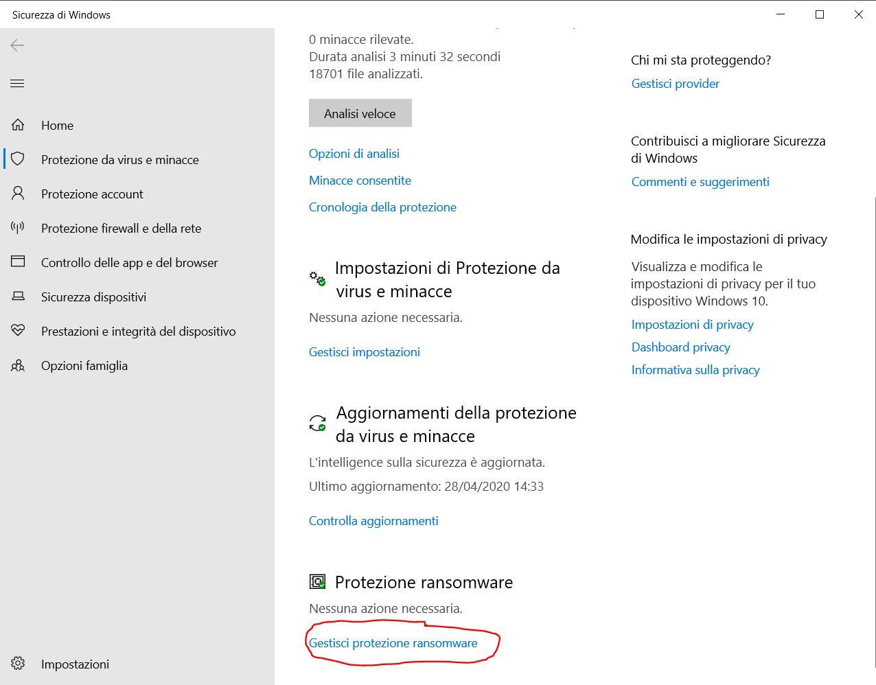 Come attivare la protezione da ransomware su Windows 10 2
