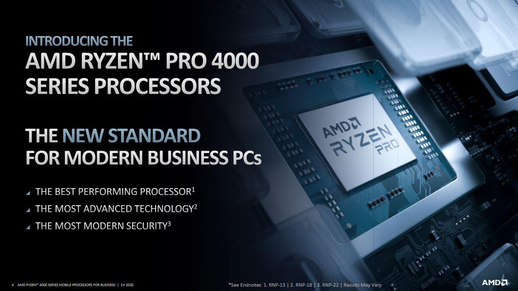 AMD Ryzen PRO 4000: specifiche tecniche e prestazioni 1
