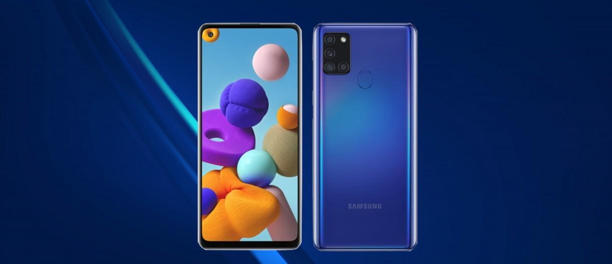 Samsung Galaxy A21s blu