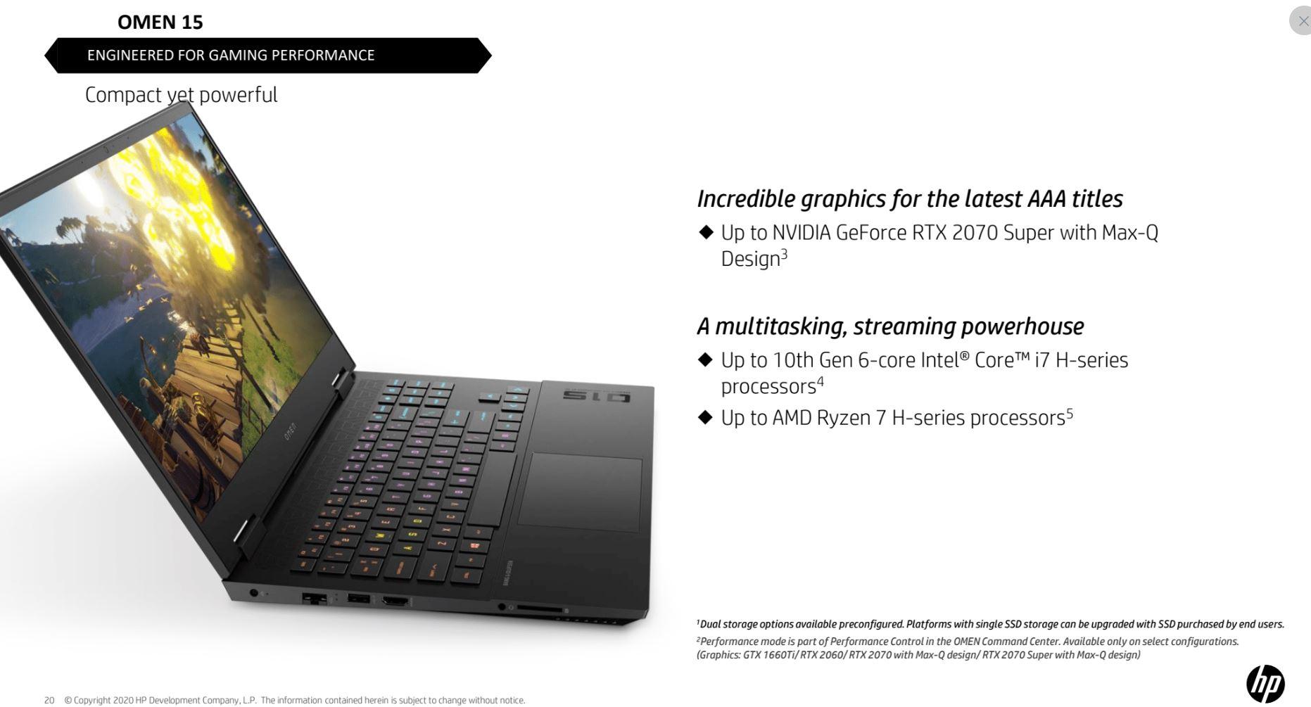 HP Omen 15 hardware