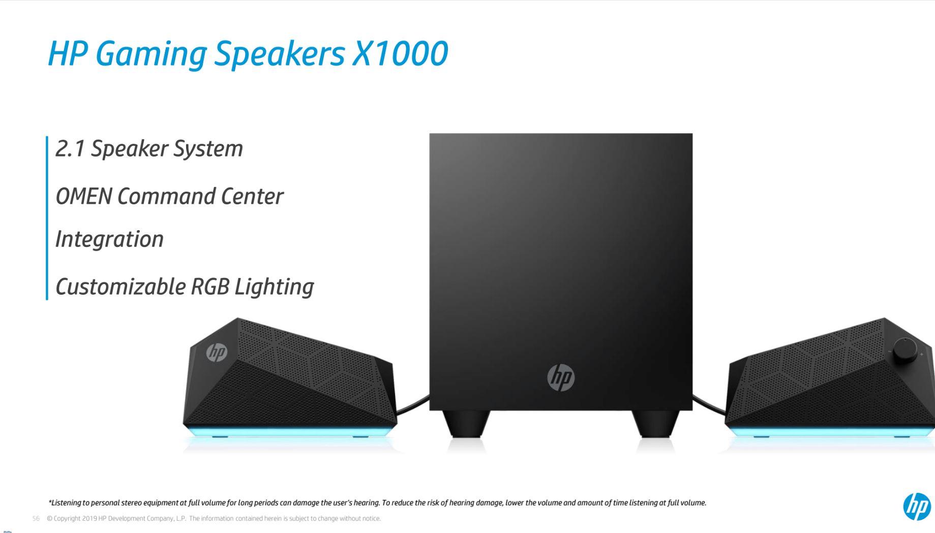 HP Gaming Speaker X1000 specifiche