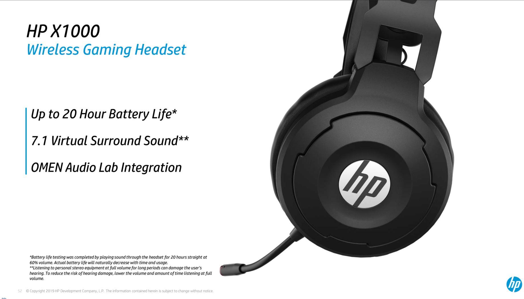 HP X1000 Wireless Headset caratteristiche principali