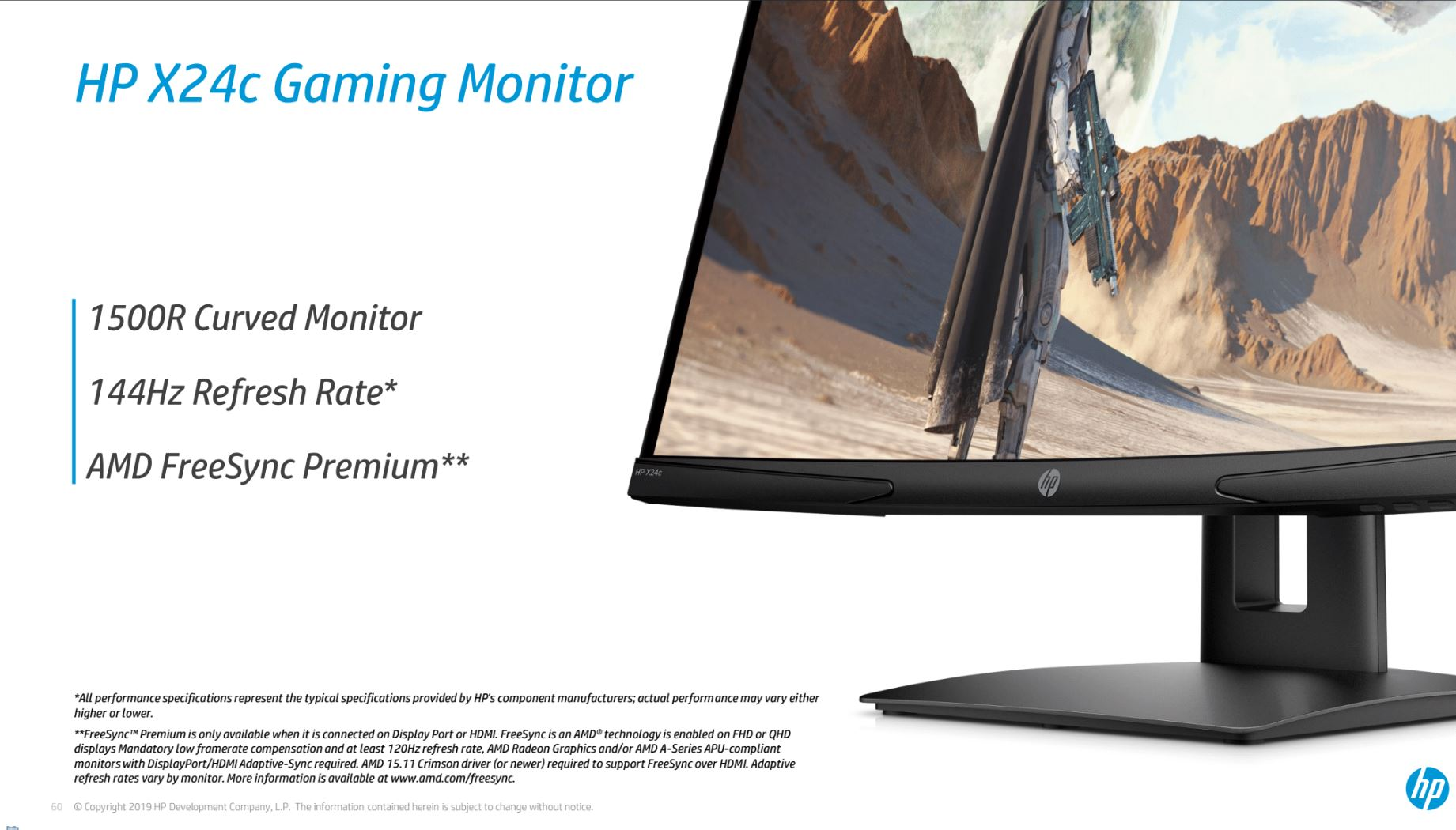 HP X24c Monitor caratteristiche