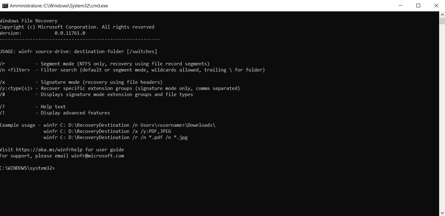 Windows File Recovery: come recuperare file cancellati su Windows 10 1